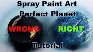 BEGINNERS SPRAY PAINT ART TUTORIAL - HOW TO MAKE PERFECT PLANETS