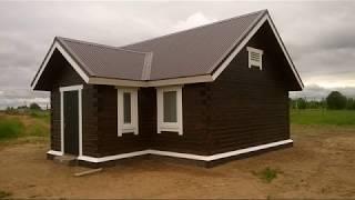 видео Дом из бруса 6х10 проект Популярный