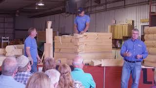 Log Home & Cabin Stacking Demonstration log raising