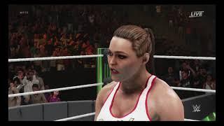 WWE 2K19 Ronda Rousey vs Alexa Bliss ( Intense Match)