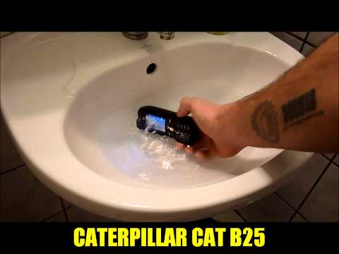 CAT B25 waterproofing test with music / Vízállóság teszt zenével