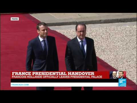 Emmanuel Macron inaugurated President: François Hollande officially leaves presidential palace