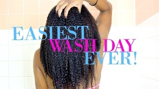 Natural Hair   EASIEST WASH DAY ROUTINE Start to Finish!