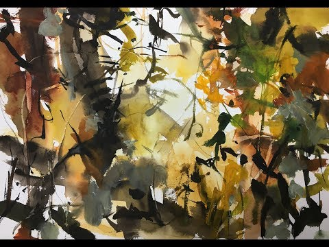 Quickly Abstract Nature Watercolor painting tutorial