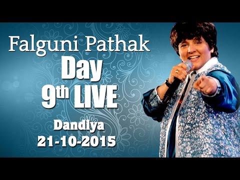 Falguni Pathak Raas Garba 2015 | Ghatkopar - Mumbai Day 9 Live -21st Oct 2015