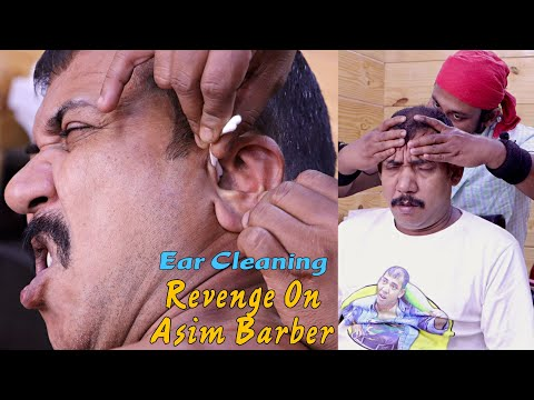 Revenge On Asim Barber / Ear Cleaning | Neck Cracking | ASMR Head Massage