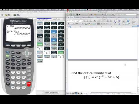 Lesson 3 1b Using The Calculator To Find Derivatives And Critical