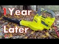 Ryobi Hybrid Blower 1 Year Later (18V 4Ah Battery Leaf Blower)