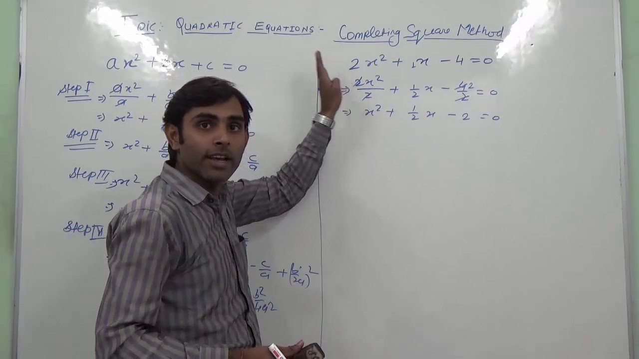 Completing The Square Method In Quadratic Equation (hindi)  Ncert 10th  Class Maths