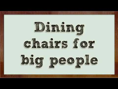 The Best Dining Chairs for Big People  sc 1 st  YouTube & The Best Dining Chairs for Big People - YouTube