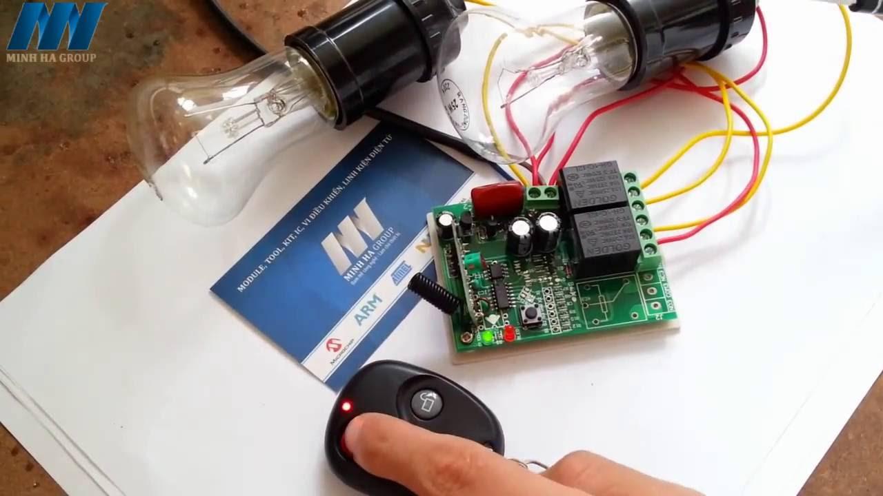 Demo RF Điều Khiển Đèn Điện 220V Với 3 Chế Độ - [ http://banlinhkien.vn/ ]