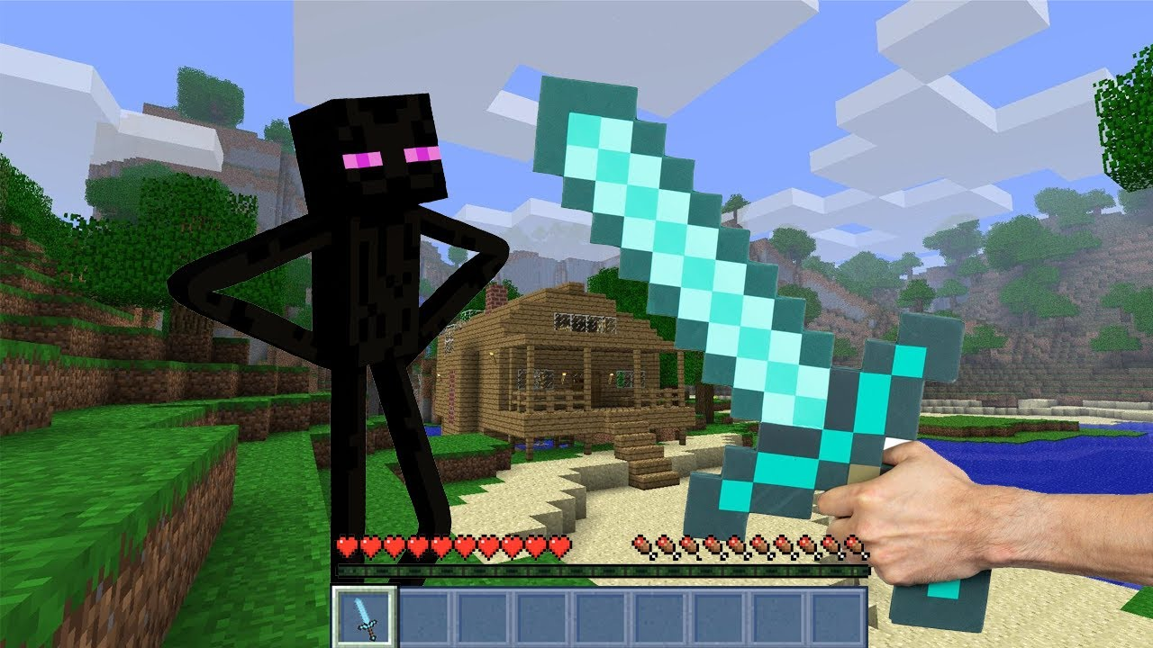 minecraft in real life - enderman life