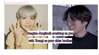 Imagine Jungkook crushing on you with Yoongi as your older brother(use headphones )