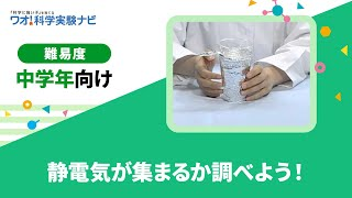 実験レシピ 静電気が集まるか調べよう! thumbnail