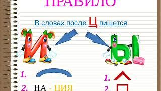 Правописание гласных И-Ы после Ц