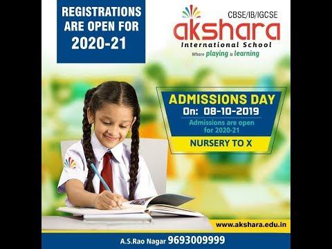 Akshara International school. L.B.Nagar & A.S.Rao Nagar.