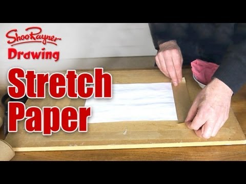 How to stretch paper to stop paintings from going wrinkly