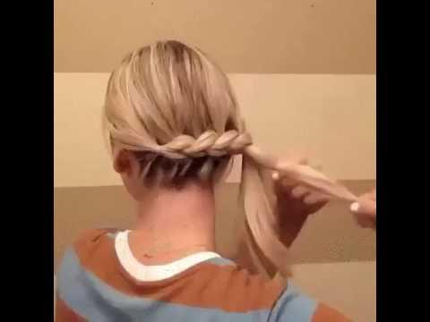 фото волосами прически с собранными пошагово