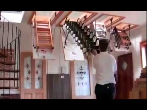 Установка чердачной лестницы Fakro LWK - YouTube