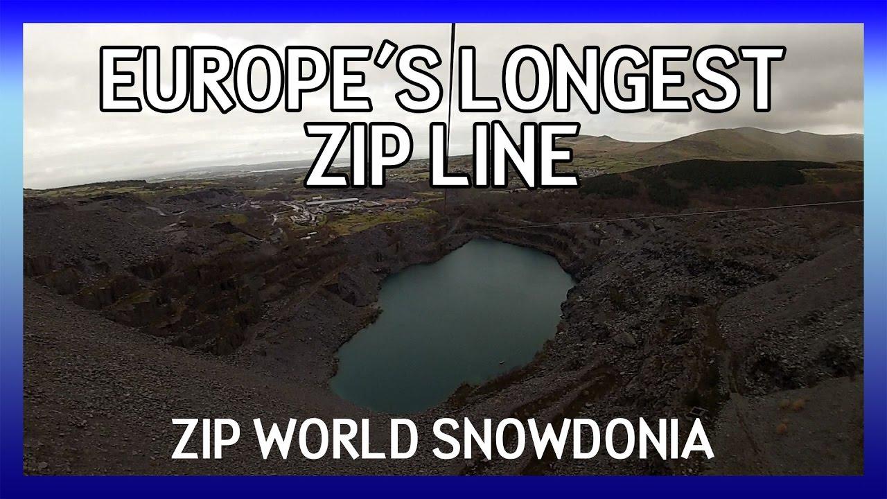 Zip World Snowdonia Big Zipper - Europe\'s Longest Zip Line - GoPro ...