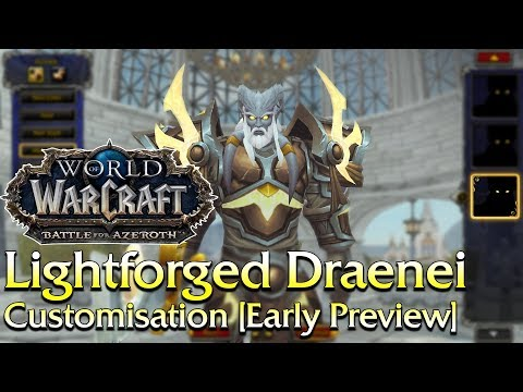 An Early Preview of the Lightforged Draenei Customisation Options | World of Warcraft