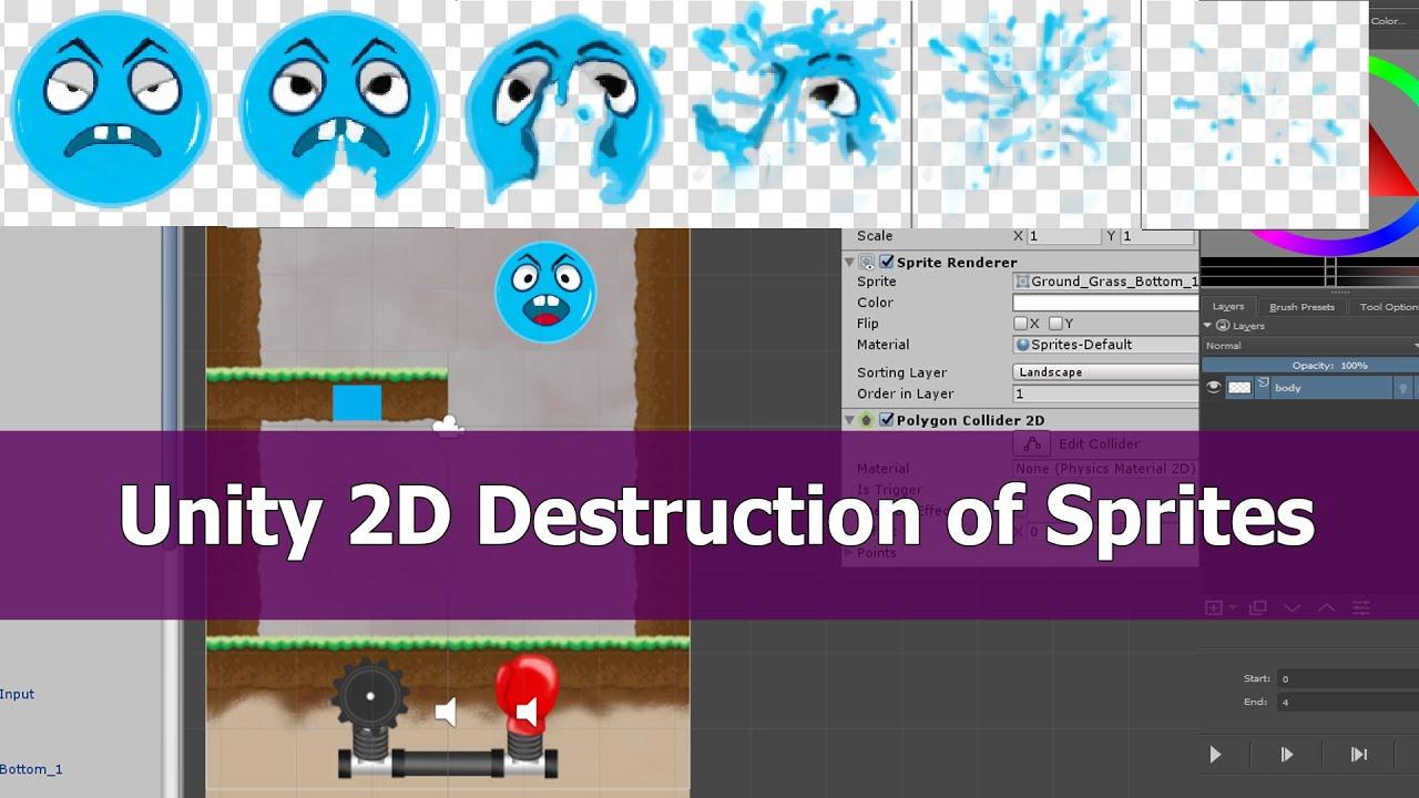 Unity Destruction 2D Sprites Tutorial