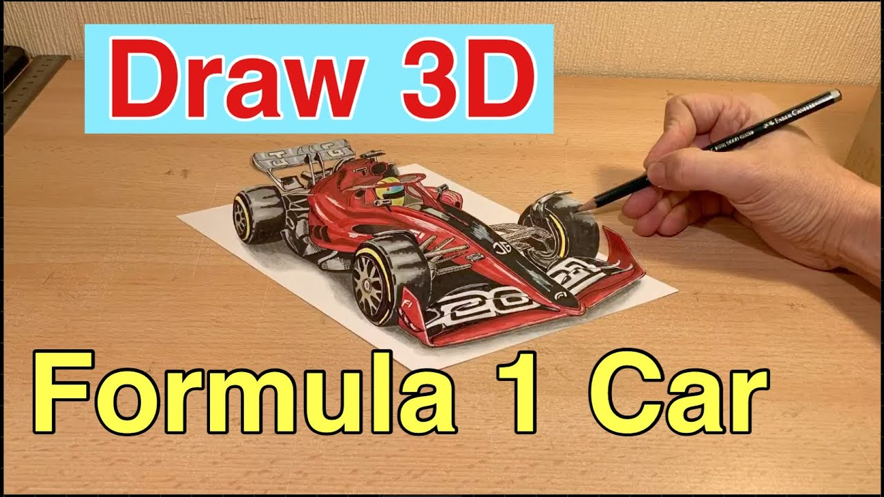 formel 1 auto zeichnen lernen fur anfanger in 3d zeichnung