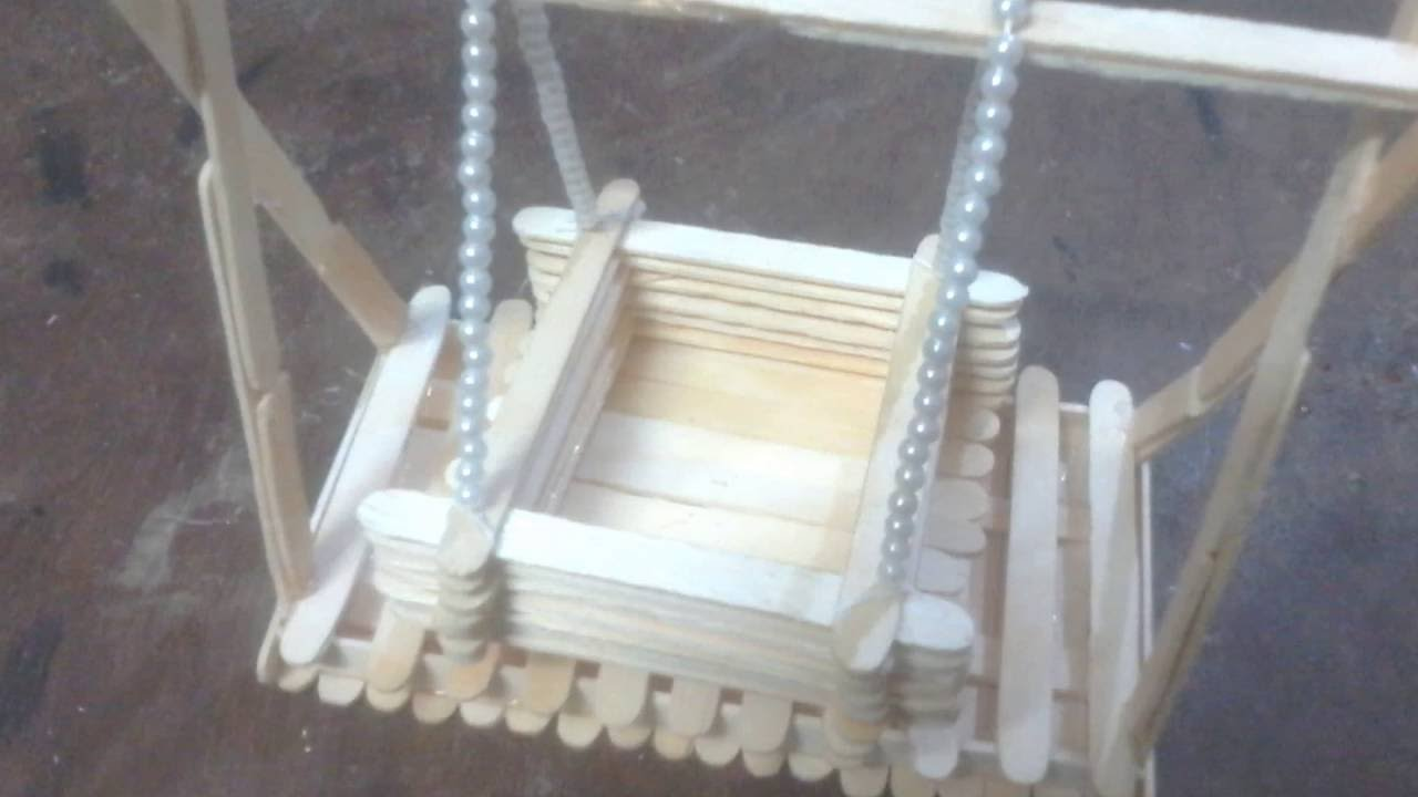 DIY How to make toy Baby Swing with Popsicle Sticks