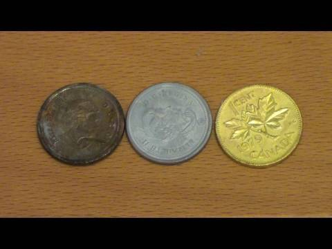 Turn Pennies Silver and Gold (Chemistry Trick)