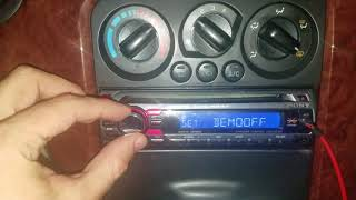 How to get a sony radio out of demo mode and how to set the clock
