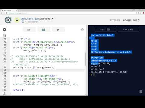 Introduction to Programming in C - part 9 - math.h - sin, cos, pow, sqrt functions