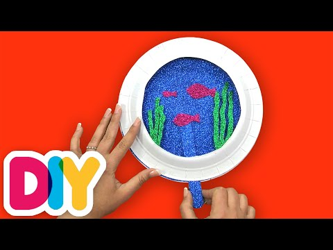 How to make a FISH BOWL | Paper Plate Craft | Fast-n-Easy | DIY Arts & Crafts for Kids