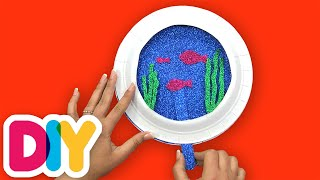 How to make a FISH BOWL | Paper Plate Craft | Fast-n-Easy | DIY Arts & Crafts for Parents