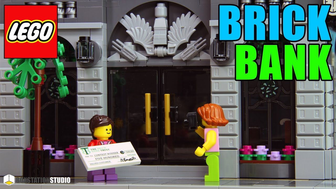 Lego Creator Brick Bank Set 10251 Stop Motion Speed Build Boxstation Studio