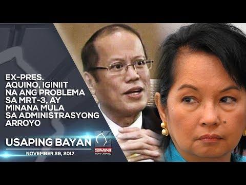 Ex-Pres. Aquino, iginiit na ang problema sa MRT-3, ay minana mula sa Administrasyong Arroyo
