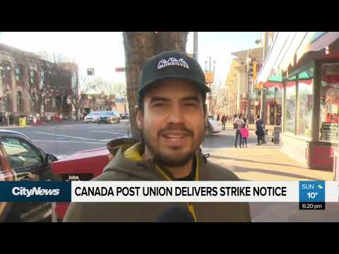 Canada Post Workers Deliver Strike Notice