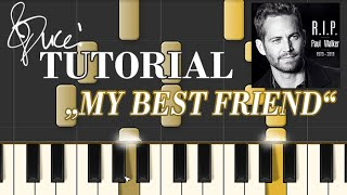 Tyrese ft. Ludacris & The Roots - My Best Friend (piano tutorial + MIDI)