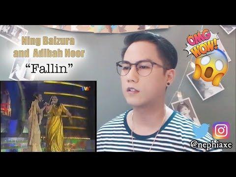 Ning Baizura and Adibah Noor - Fallin (Anugerah Bentang)   REACTION