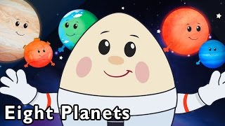 Repeat youtube video Surprise Egg Flies to the Stars   Eight Planets and More   Baby Songs from Mother Goose Club!
