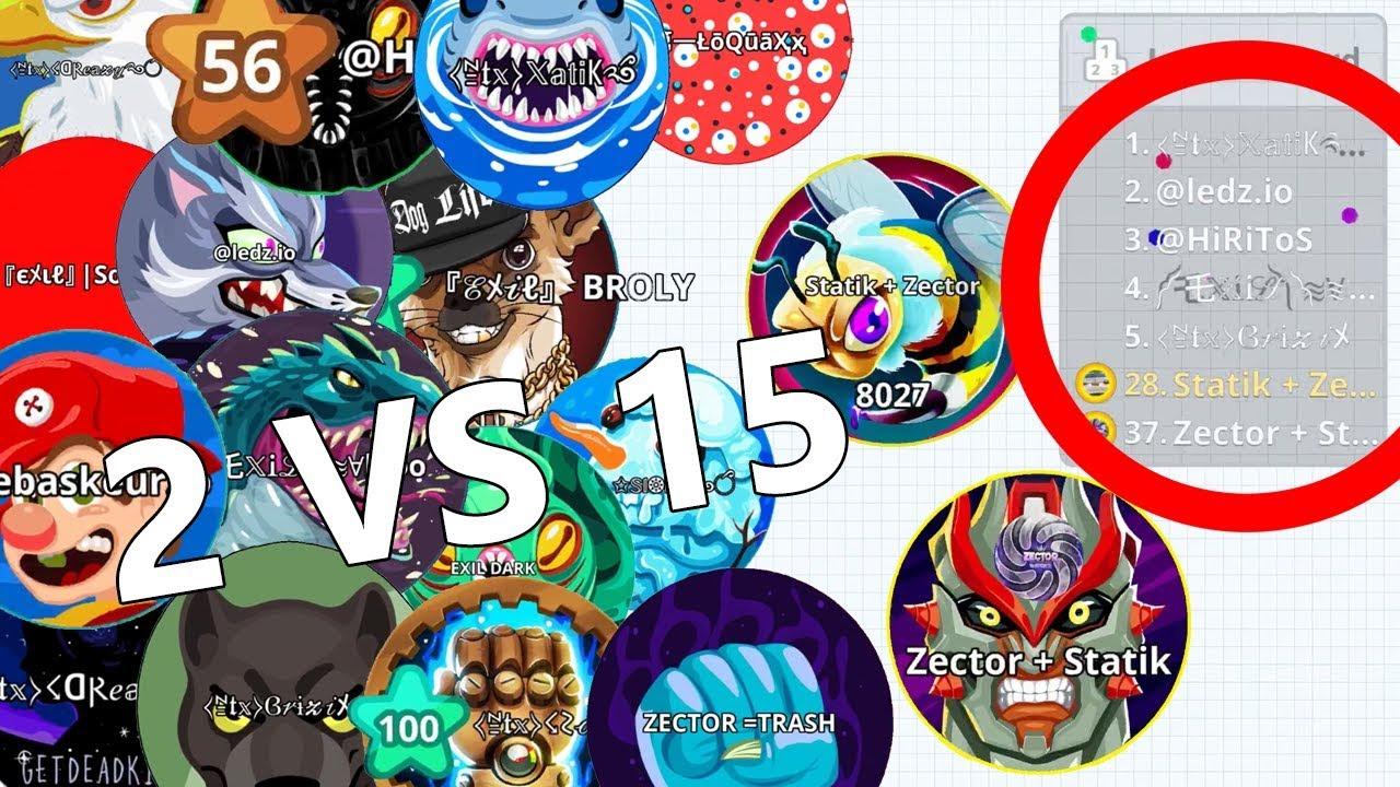 INSANE REVENGE DESTROYING NTX CLAN 2 vs 15!! (Agar.io Mobile Gameplay)