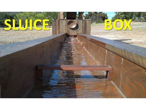 How To Make An Old Western Mining Town Sluice And Mining Area: Part 5