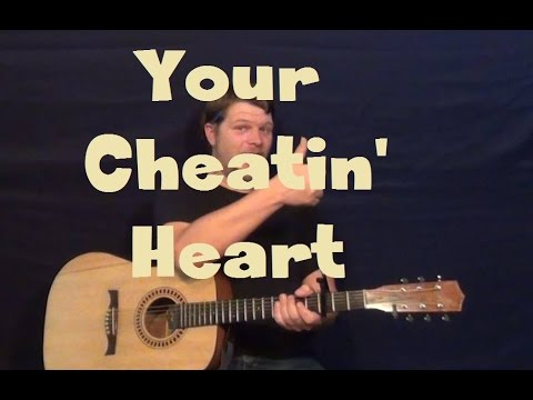 Your Cheatin' Heart (Hank Williams) Easy Guitar Lesson How to Play Tutorial
