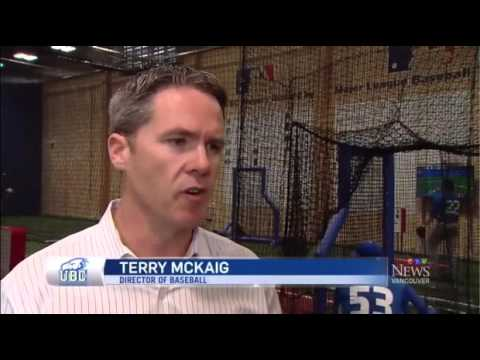 CTV Vancouver personalities try out the UBC Thunderbirds baseball facility