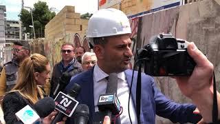Riqualificazione ex Caserma Rossani: abbattuto il muro di via De Bellis