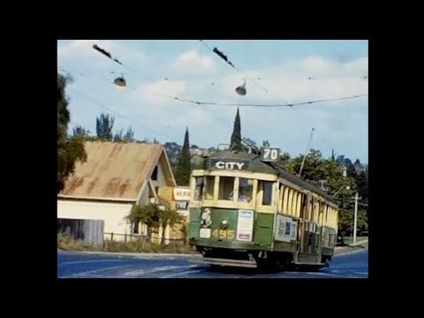 Melbourne Trams 1965 - 1983. Silent Movie Digital Remake.