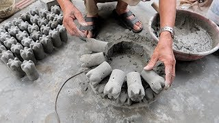Fun And Ideas Cement at Home - Techniques Build A Pots Cement From Plastic Bottle And Cement
