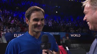 On Court Interview: Federer v Isner, Day 3, September 22 2019