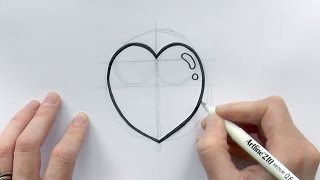 How to Draw a Cartoon Love Heart for Valentine