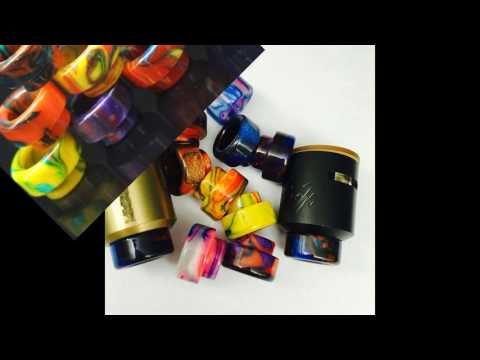 Review 18mm Wide Bore Resin Drip tip for desire mad dog rda