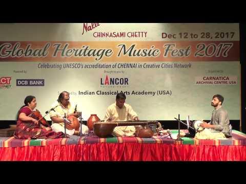 Sangeet Samrat Chitravina N.Ravikiran l Global Heritage Music Fest 2017 l Web Streaming